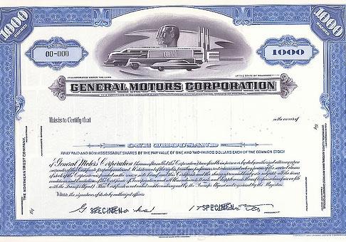 General_Motors_Corporations_Specimen_Stock_Certificate